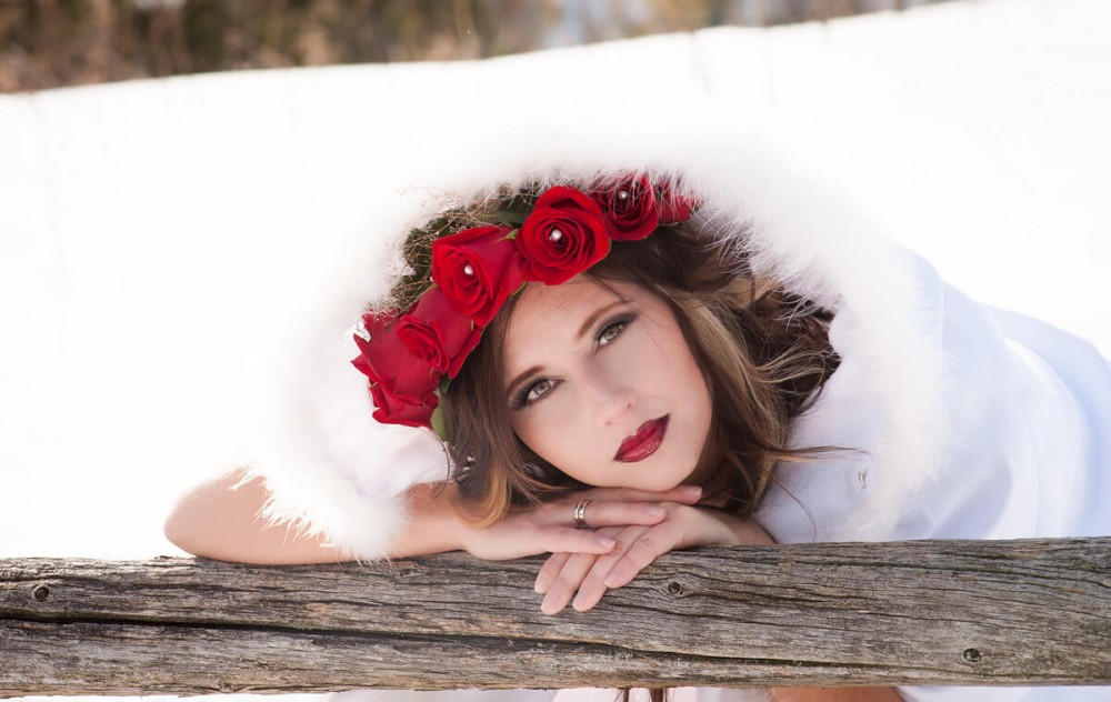 Red, White and SNOW! Outdoor Winter Boudoir