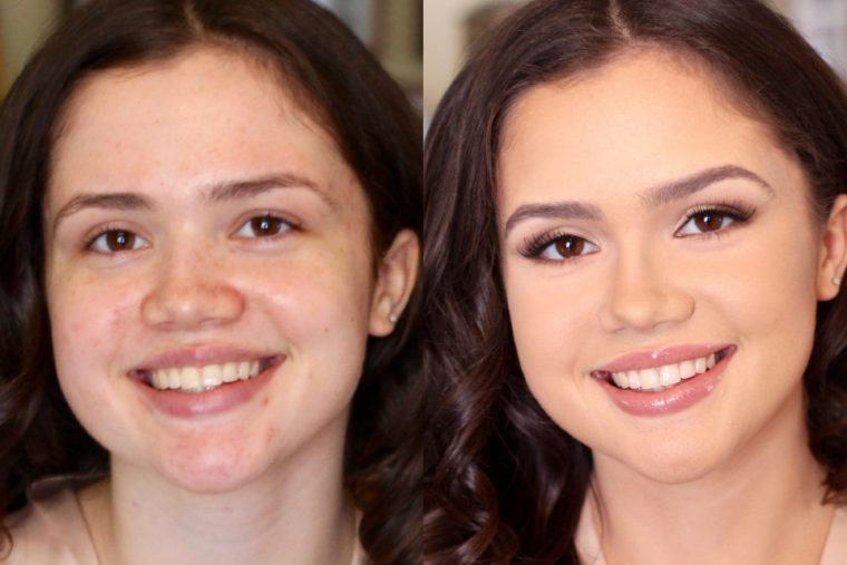 dramatic before and after makeup photos